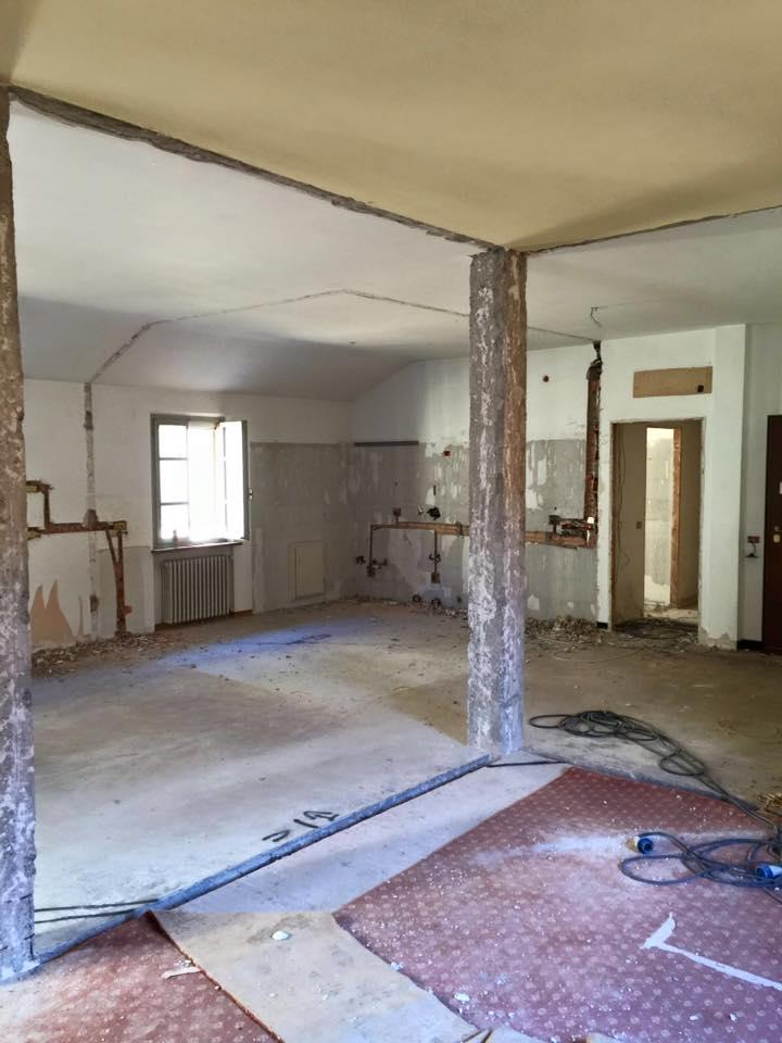 Zona living appartamento_Pre ristrutturazione