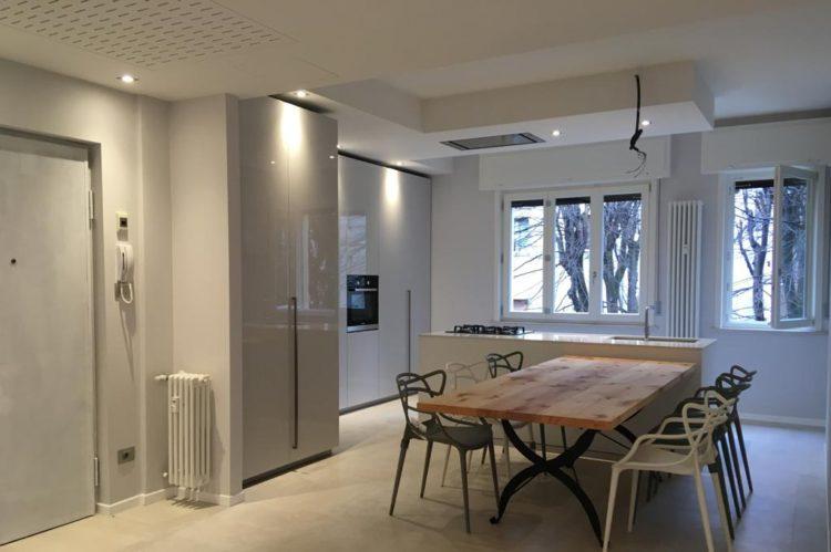 Zona cucina/ sala da pranzo_post ristrutturazione